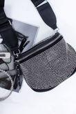 FELICIA Black Stud Bum Bag