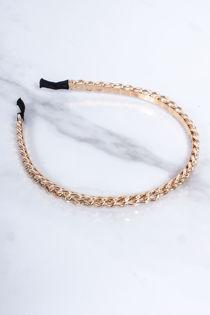 KAITLYN Gold Chain Thin Headband