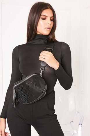 EVE Black Long Sleeve Roll Neck Bodysuit