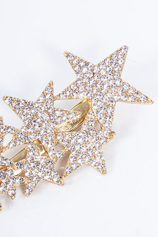 ALINA Gold Diamante Star Cluster Hair Slide
