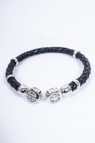 RUBIE Black Plaited Bracelet