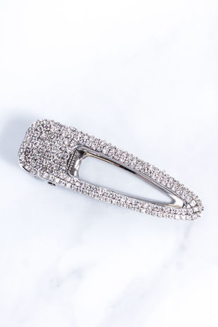 MYA Silver Diamante Hair Clip