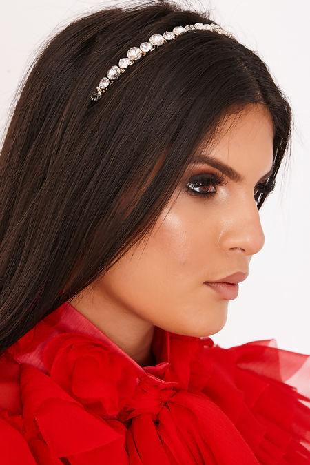 TAYLA Gold Diamante Gem Headband