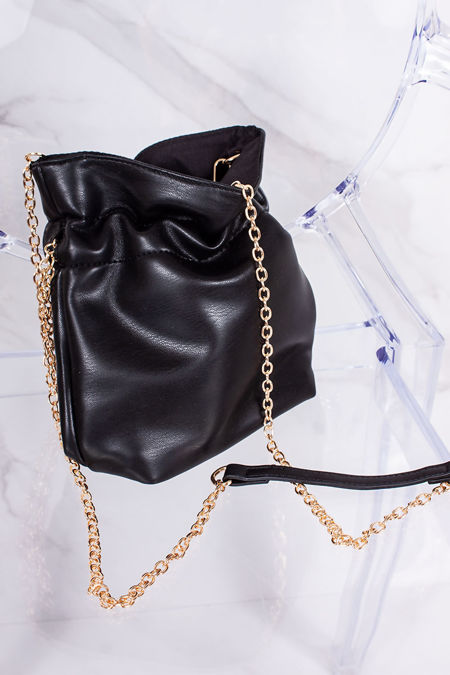 ELEANOR Black Pouch Bag