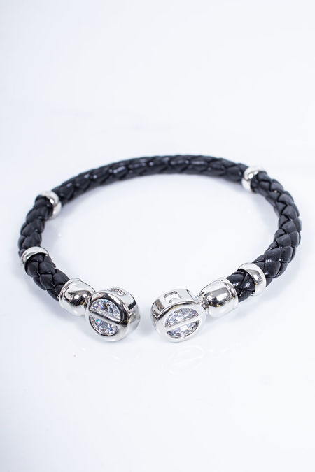 RUBIE Black Plaited Bracelet