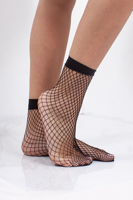LORNA Black Small Fishnet Socks