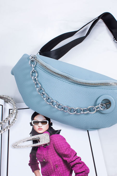 ELYSIA Blue Chain Zip Bum Bag