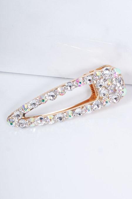 CLARA Gold Diamante Jewel Hair Clip