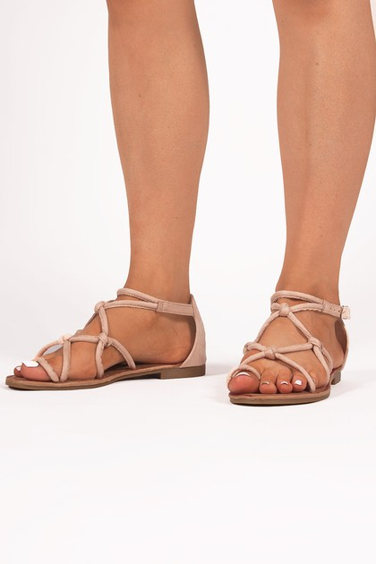 EMILY Beige Rope Sandals
