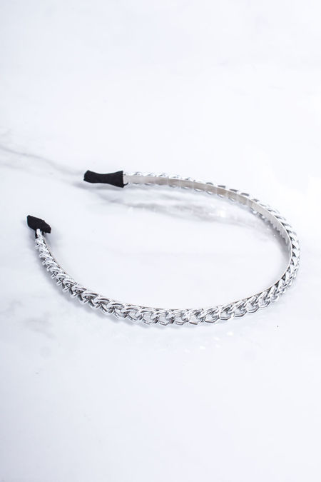 ERIN Silver Chain Thin Headband
