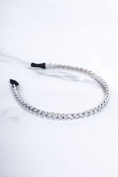 ERIN Silver Chain Thin Headband