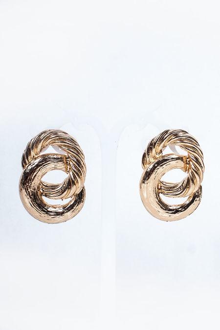 KELSEY Gold Chunky Twist Earrings