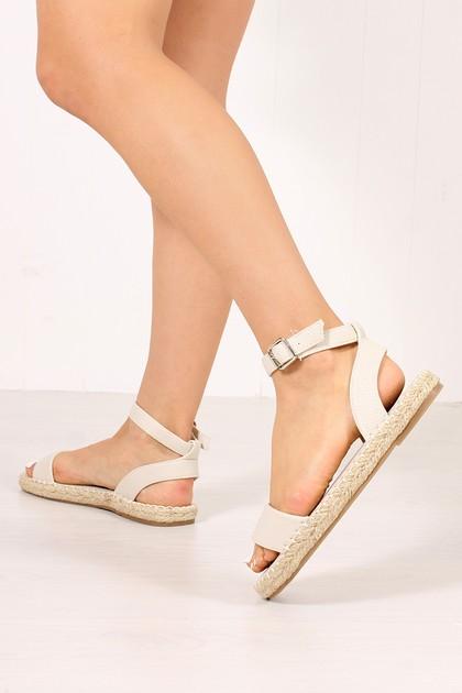ISABELLA Beige Espadrille Sandals
