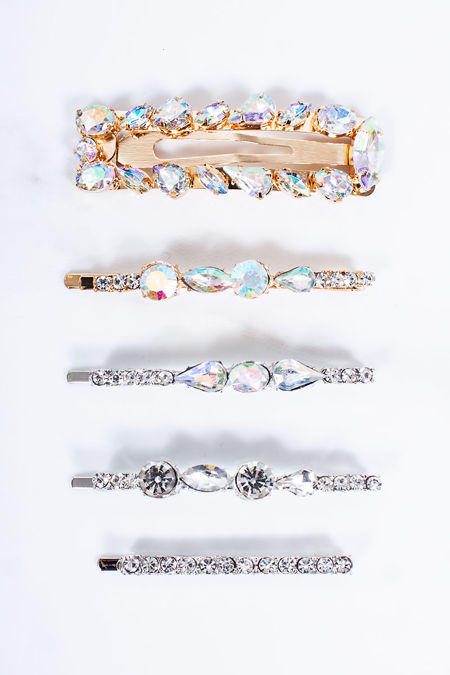 AMAKA Jewel Embellished Five Pack Hair Slides