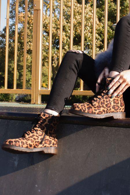 HARRIET Leopard Print Faux Suede Ankle Boots