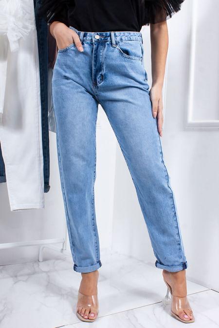 HARLEY Light Blue Wash Denim Mom Jeans