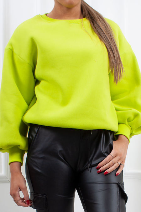 ERIN Neon Lime Oversized Sweatshirt Jumper