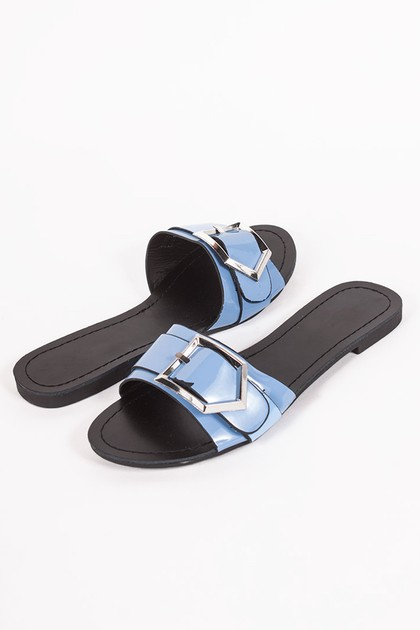 MIA Blue Buckle Strap Sliders