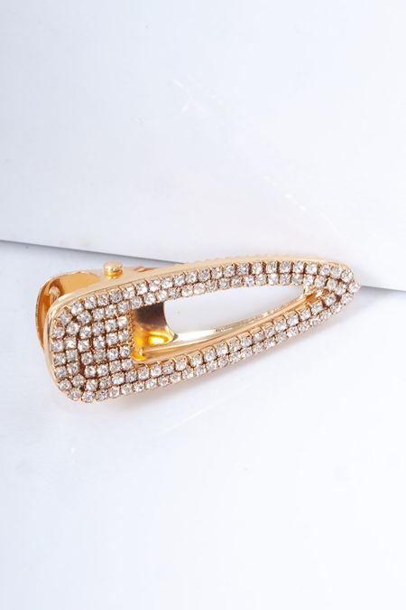 NADINE Gold Diamante Mini Hair Clip