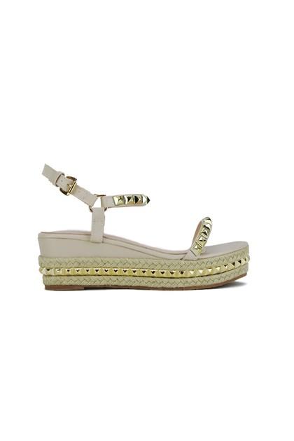 KRISTEN Nude Stud Flatform Sandals