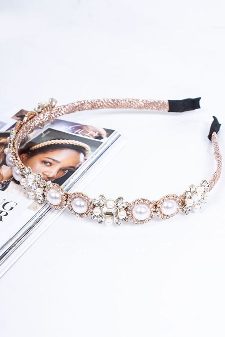 MABEL Pink Embellished Headband