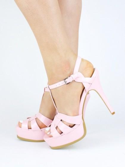 ELLA Pink Platform Heel