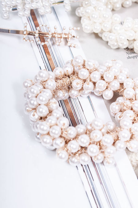LUCIE Rose Gold Pearl Scrunchie