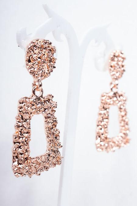 ESME Rose Gold Textured Earrings