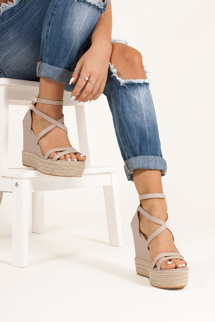 SIA Nude Espadrille Wedges