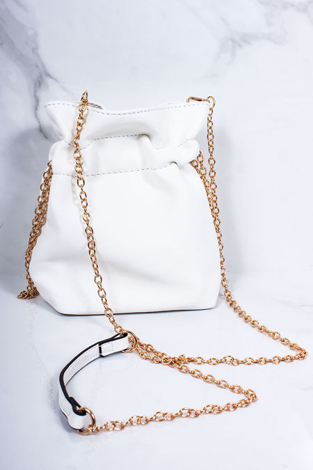 ELEANOR White Pouch Bag