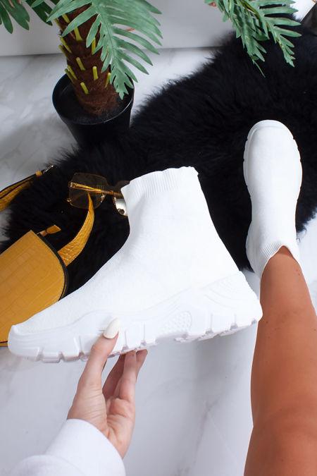 JORDYN White Sock Trainers