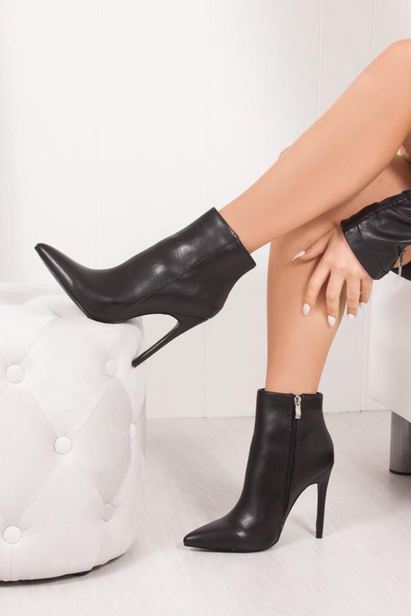 ALEXANDER Black Stiletto Ankle Boots