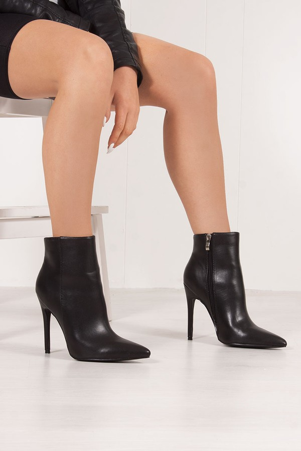 ALEXANDER Black Stiletto Ankle Boots