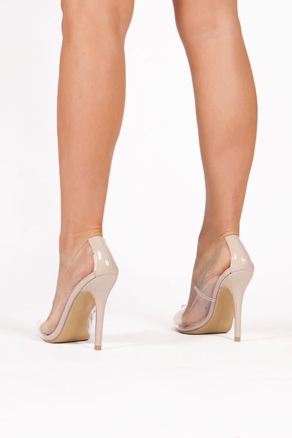 ANYA Nude Clear Court Heels