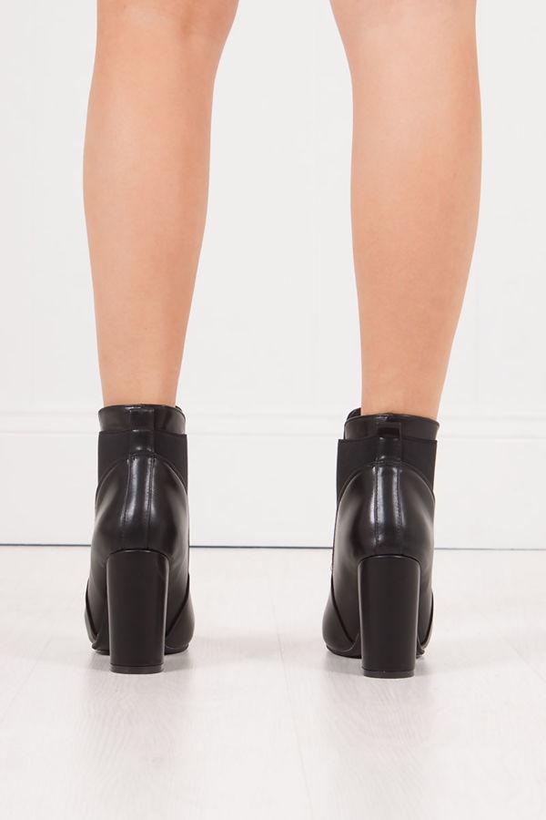 cb35d713075e KIAYA Black Block Heel Ankle Boots