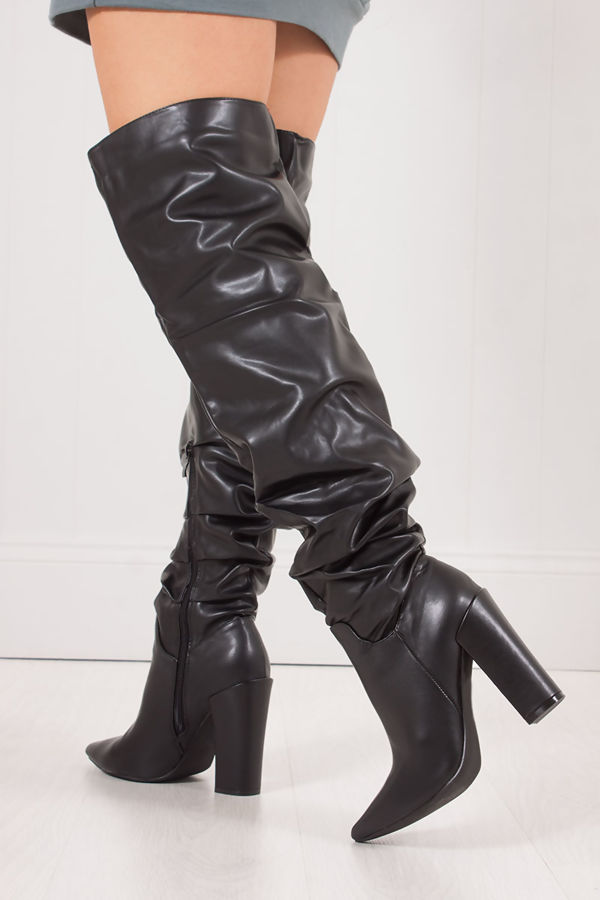 Useful idea over the knee boots high heel very grateful