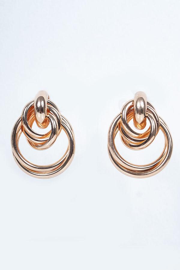 LIBBY Gold Chunky Hoop Link Earrings